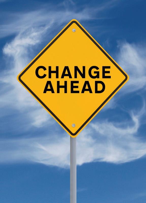 Change Ahead traffic sign